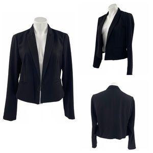 SILENCE & NOISE Cropped Black Jacket Size L